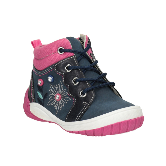 Ankle boots with a distinctive sole bubblegummer, blue , 121-9619 - 13
