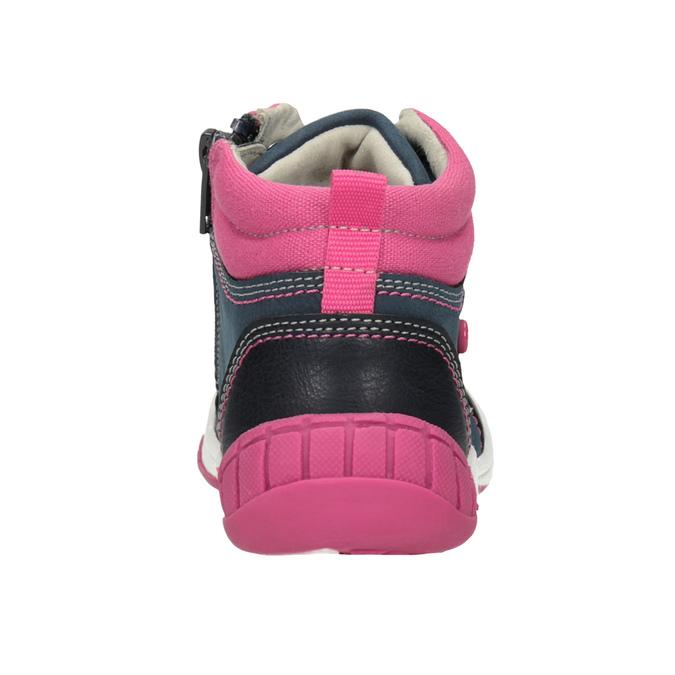 Ankle boots with a distinctive sole bubblegummer, blue , 121-9619 - 16