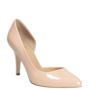 Patent pinkish cream-colored pumps insolia, beige , 721-5615 - 13