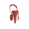 Red pumps with an open heel insolia, red , 721-5616 - 16