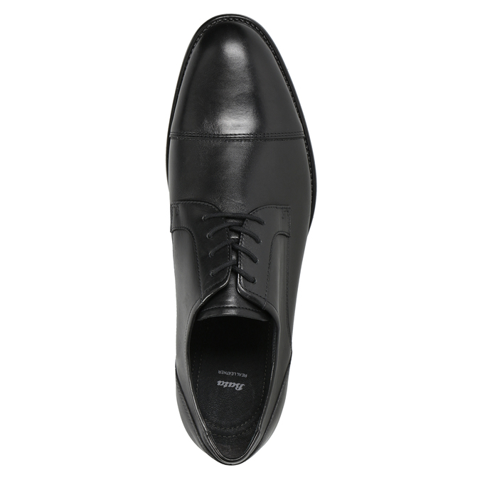 Men's Leather Derby Shoes bata, black , 824-6995 - 15