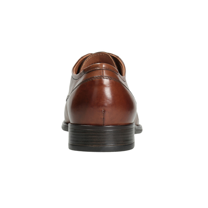Men's dress shoes with stitching bata, brown , 826-4995 - 16
