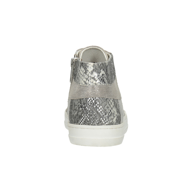 Leather high-top sneakers bata, gray , 546-2608 - 16