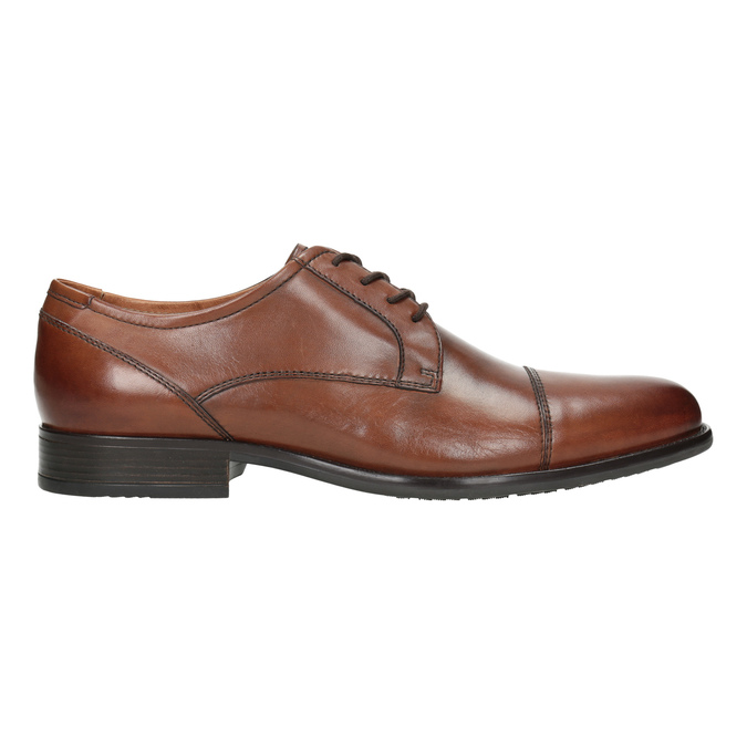 Men's dress shoes with stitching bata, brown , 826-4995 - 26