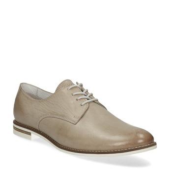 Ladies' leather shoes bata, beige , 526-8650 - 13