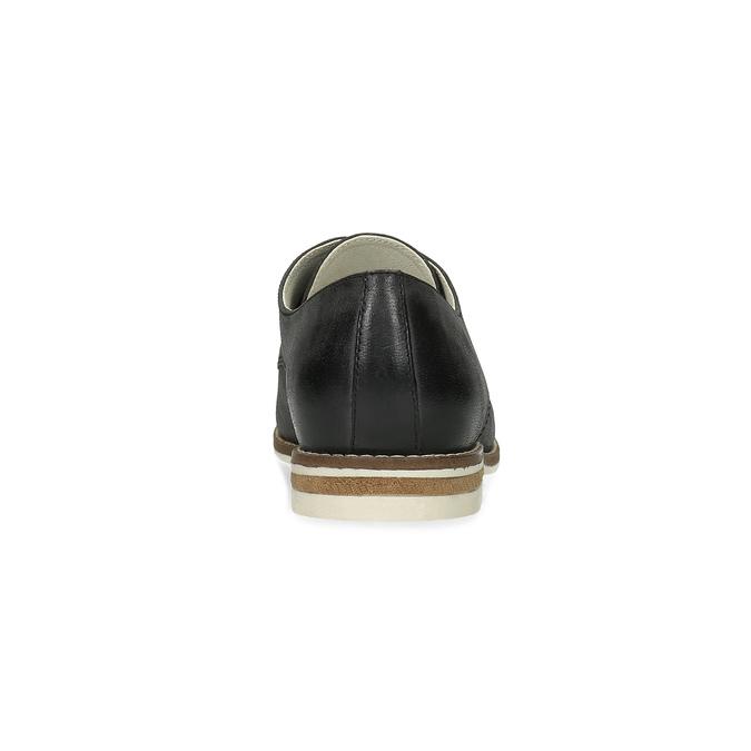 Ladies' leather shoes bata, black , 526-6650 - 15