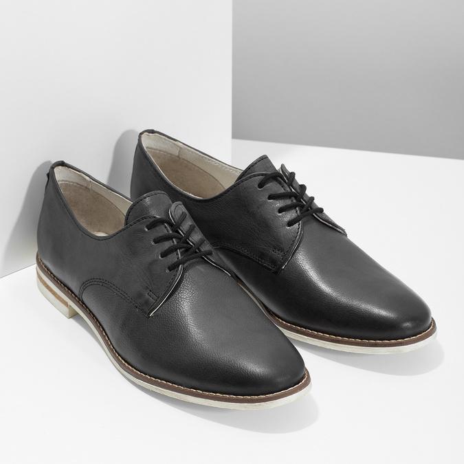 Ladies' leather shoes bata, black , 526-6650 - 26
