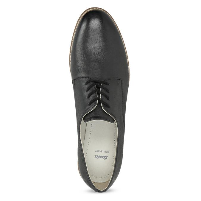 Ladies' leather shoes bata, black , 526-6650 - 17