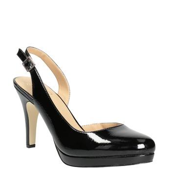 Stiletto pumps insolia, black , 721-6616 - 13