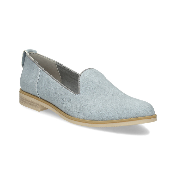 Ladies' leather Loafers bata, blue , 519-9605 - 13