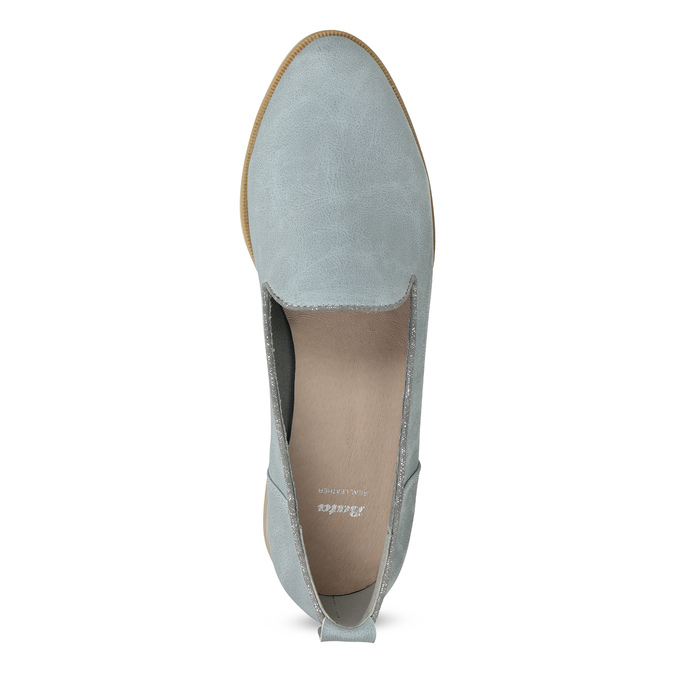 Ladies' leather Loafers bata, blue , 519-9605 - 17