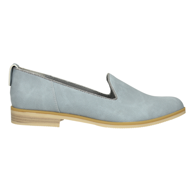 Ladies' leather Loafers bata, blue , 519-9605 - 26