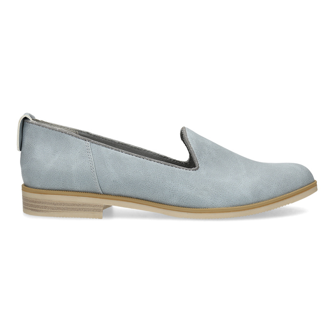 Ladies' leather Loafers bata, blue , 519-9605 - 19