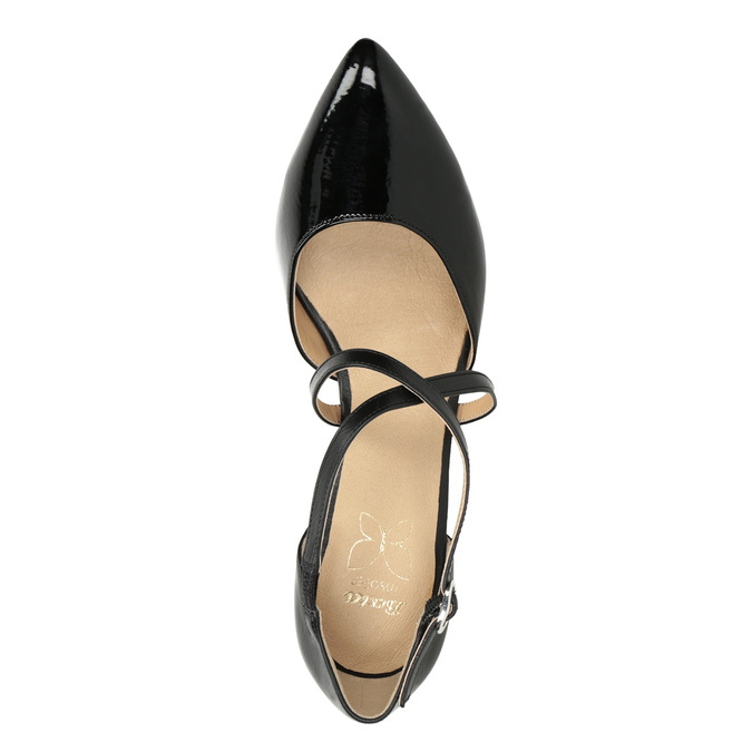 Pumps with crossed straps insolia, black , 721-6617 - 15