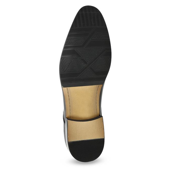 Men's leather Derby shoes bata, black , 824-6233 - 18