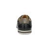 Men's leather sneakers bata, black , 846-6617 - 15