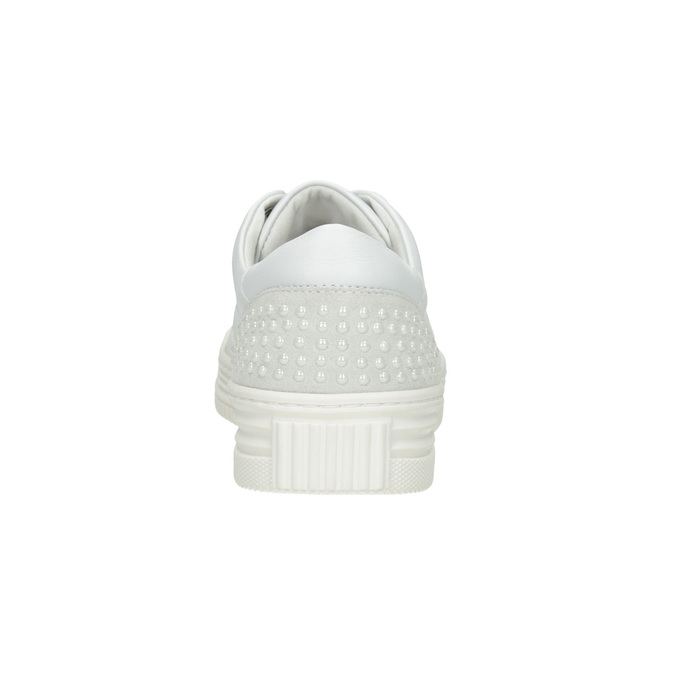 Ladies' leather casual sneakers bata, white , 544-1606 - 16
