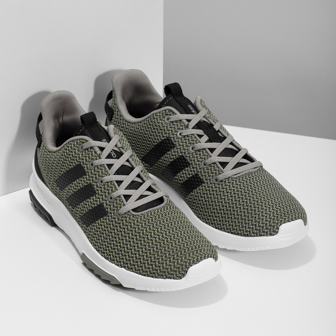 Sneakers in a sport design adidas, khaki, 809-7201 - 26