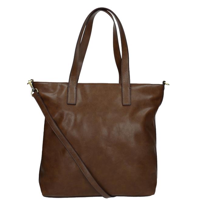 Ladies' handbag with asymmetric zip bata, brown , 961-3847 - 16