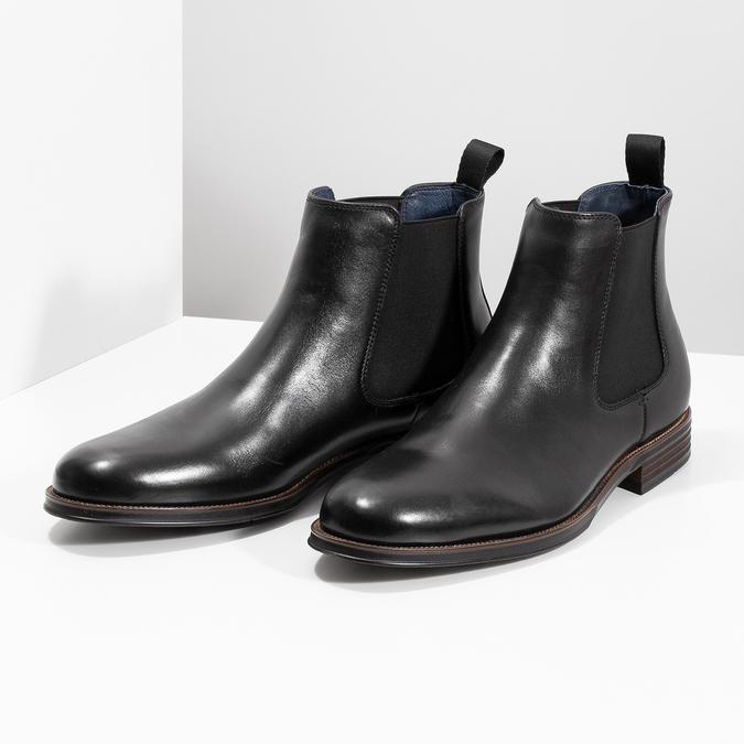 Leather Chelsea Boots bata, black , 894-6400 - 16